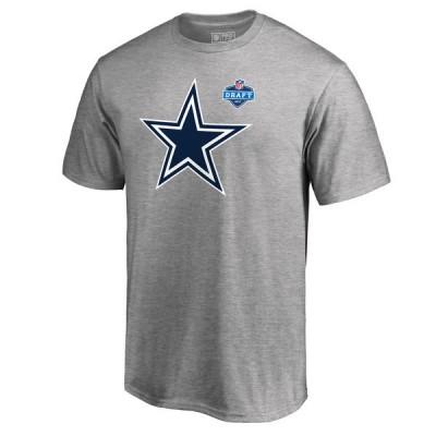 NFL Dallas Cowboys Pro Line Heather Gray 2017 NFL Draft Men T-Shirt