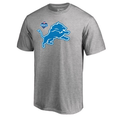 NFL Detroit Lions Pro Line Heather Gray 2017 NFL Draft  Men T-Shirt