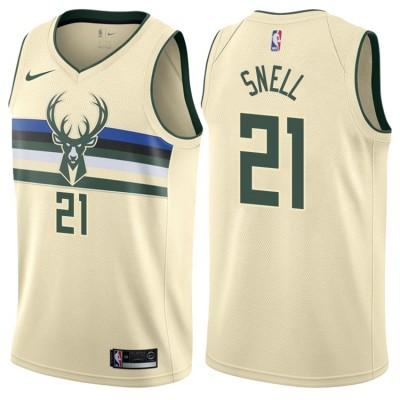 NBA Bucks 21 Tony Snell Cream City Edition Nike Men Jersey