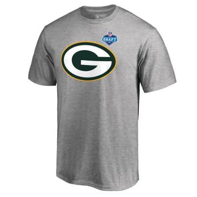 NFL Green Bay Packers Pro Line Heather Gray 2017 NFL Draft  Men T-Shirt