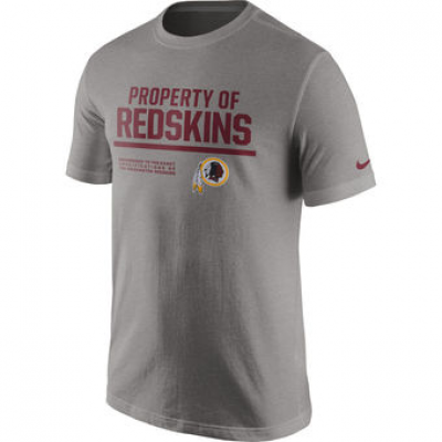 NFL Redskins Nike Property Of T-Shirt Heathered Gray