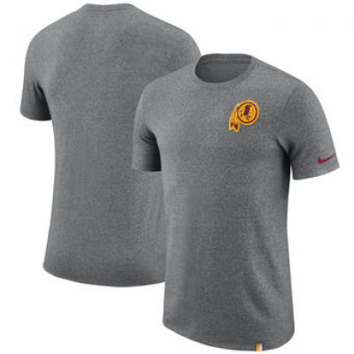NFL Redskins Nike Marled Patch T-Shirt Heathered Gray