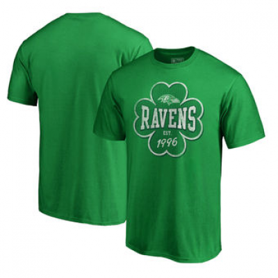 NFL Ravens St. Patrick's Day Emerald Isle Big and Tall T-Shirt Green