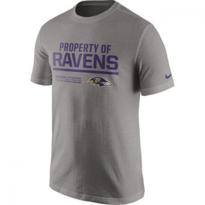 NFL Ravens Nike Property Of T-Shirt Heathered Gray
