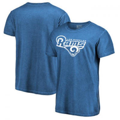 NFL Rams White Logo Shadow Washed T-Shirt -