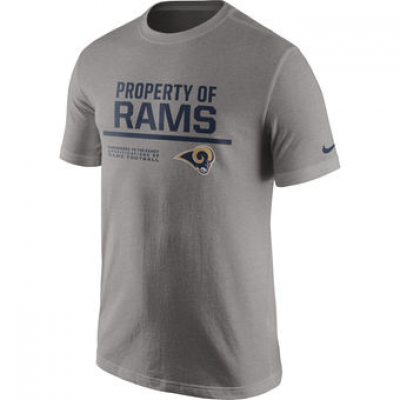 NFL Rams Nike Property Of T-Shirt Heathered Gray