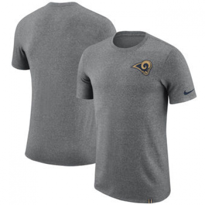 NFL Rams Nike Marled Patch T-Shirt Heathered Gray