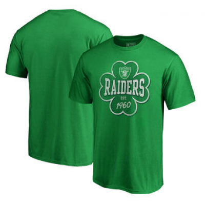 NFL Raiders St. Patrick's Day Emerald Isle Big and Tall T-Shirt Green