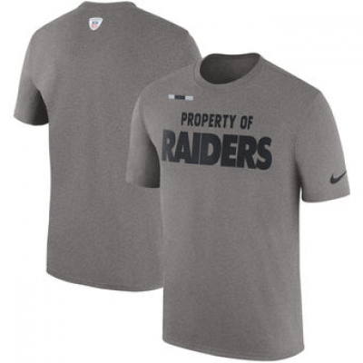 NFL Raiders Nike Sideline Property Of Facility T-Shirt Heather Gray