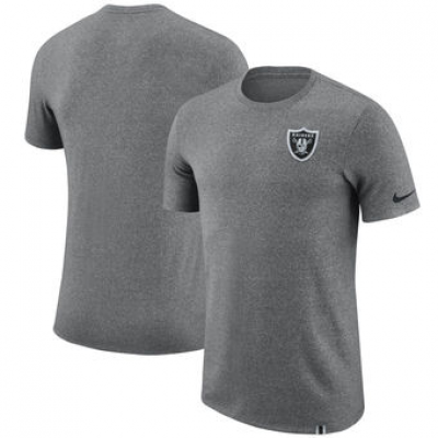 NFL Raiders Nike Marled Patch T-Shirt Heathered Gray