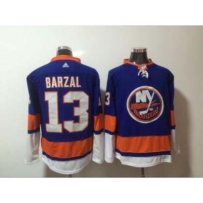 NHL Islanders 13 Mathew Barzal Blue Adidas Men Jersey