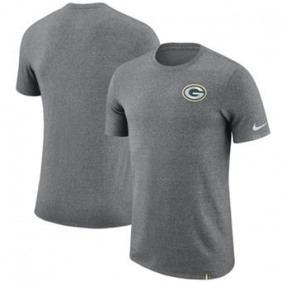 NFL Packers Nike Marled Patch T-Shirt Heathered Gray