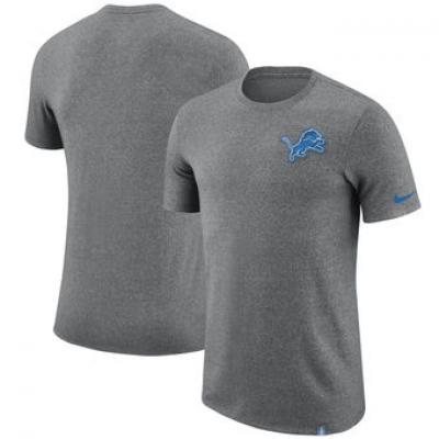 NFL Lions Nike Marled Patch T-Shirt Heathered Gray