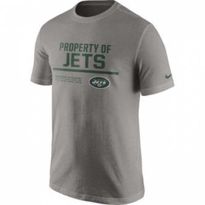 NFL Jets Nike Property Of T-Shirt Heathered Gray