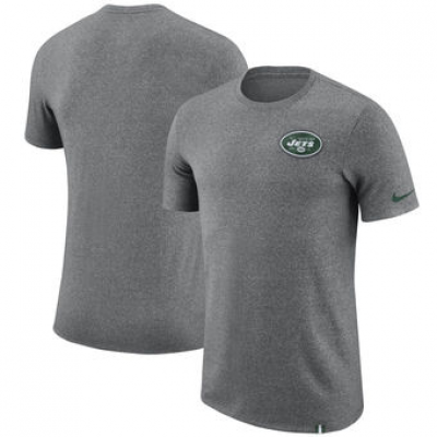 NFL Jets Nike Marled Patch T-Shirt Heathered Gray