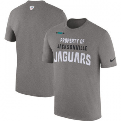 NFL Jaguars Nike Sideline Property Of Facility T-Shirt Heather Gray