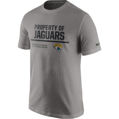 NFL Jaguars Nike Property Of T-Shirt Heathered Gray