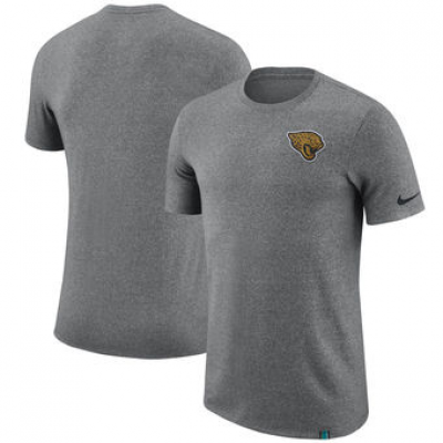NFL Jaguars Nike Marled Patch T-Shirt Heathered Gray