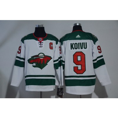 NHL Wild 9 Mikko Koivu White Adidas Men Jersey