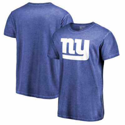 NFL Giants White Logo Shadow Washed T-Shirt -
