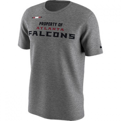 NFL Falcons Nike Sideline Property Of Facility T-Shirt Heather Gray