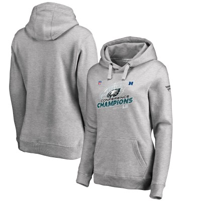 NFL Eagles 2017 NFC Champions Heather Gray Women Pullover Hoodie