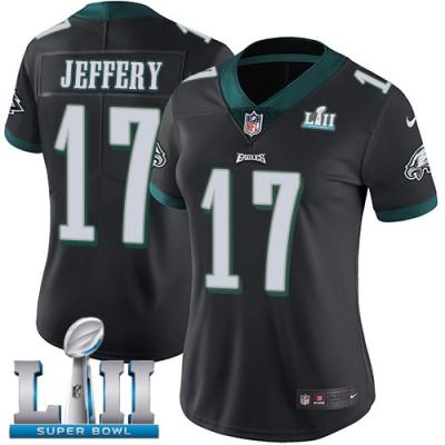 NFL Eagles 17 Alshon Jeffery Black  2018 Super Bowl LII Vapor Untouchable Nike Limited Women Jersey