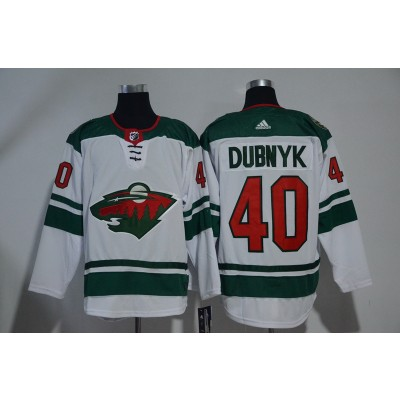 NHL Wild 40 Devan Dubnyk White Adidas Men Jersey