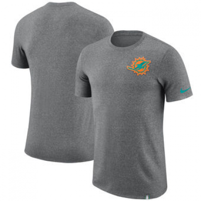 NFL Dolphins Nike Marled Patch T-Shirt Heathered Gray