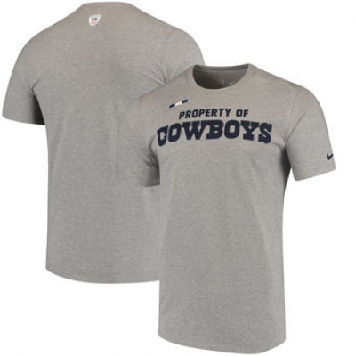 NFL Cowboys Nike Sideline Property Of Facility T-Shirt Heathered Gray