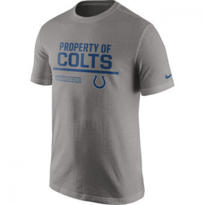 NFL Colts Nike Property Of T-Shirt Heathered Gray
