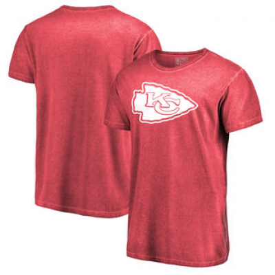 NFL Chiefs White Logo Shadow Washed T-Shirt