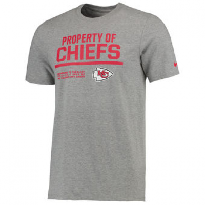 NFL Chiefs Nike Property Of T-Shirt Heathered Gray