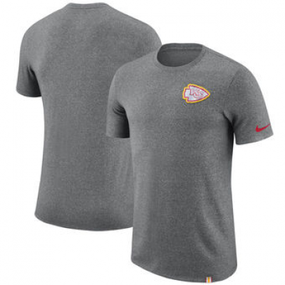 NFL Chiefs Nike Marled Patch T-Shirt Heathered Gray