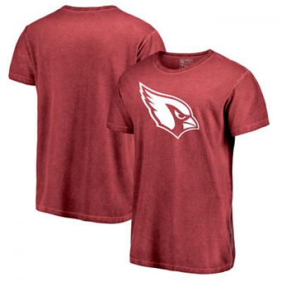 NFL Cardinals White Logo Shadow Washed T-Shirt
