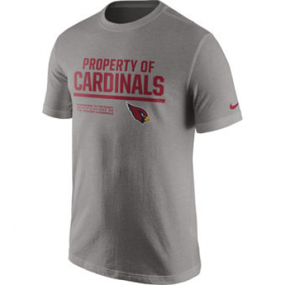 NFL Cardinals Nike Property Of T-Shirt Heathered Gray