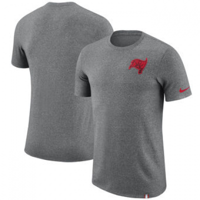 NFL Buccaneers Nike Marled Patch T-Shirt Heathered Gray