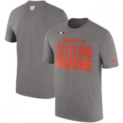 NFL Browns Nike Sideline Property Of Facility T-Shirt Heather Gray