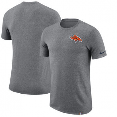 NFL Broncos Nike Marled Patch T-Shirt Heathered Gray