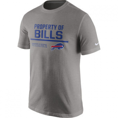 NFL Bills Nike Property Of T-Shirt Heathered Gray