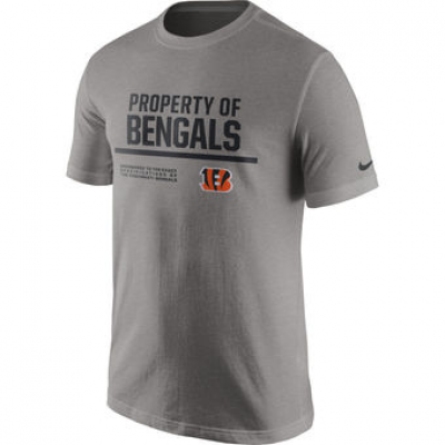 NFL Bengals Nike Property Of T-Shirt Heathered Gray