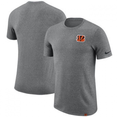 NFL Bengals Nike Marled Patch T-Shirt Heathered Gray