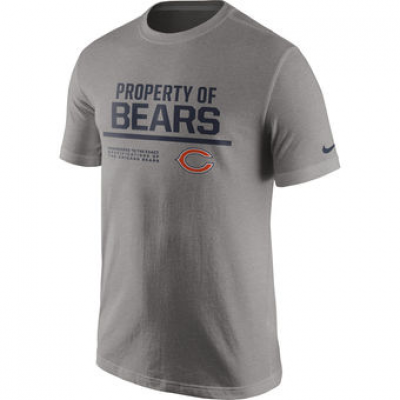 NFL Bears Nike Property Of T-Shirt Heathered Gray
