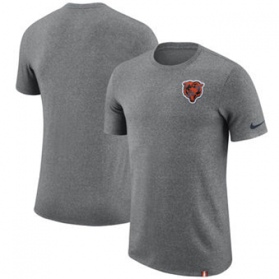 NFL Bears Nike Marled Patch T-Shirt Heathered Gray