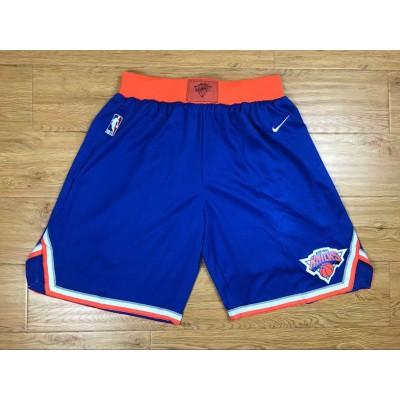 NBA Knicks Blue Nike Authentic Shorts