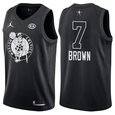 NBA Celtics 7 Jaylen Brown 2018 All-Star Black Swingman Men Jersey