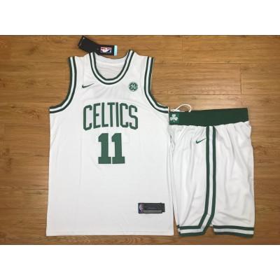 NBA Celtics 11 Kyrie Irving White Nike Swingman Men Jersey With Shorts