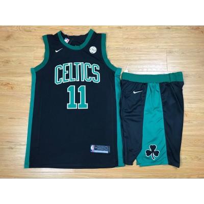 NBA Celtics 11 Kyrie Irving Black Nike Swingman Men Jersey With Shorts