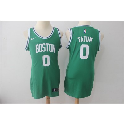 NBA Celtics 0 Jayson Tatum Green Nike Swingman Iron Women Jersey