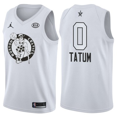 NBA Celtics 0 Jayson Tatum 2018 All-Star White Swingman Men Jersey